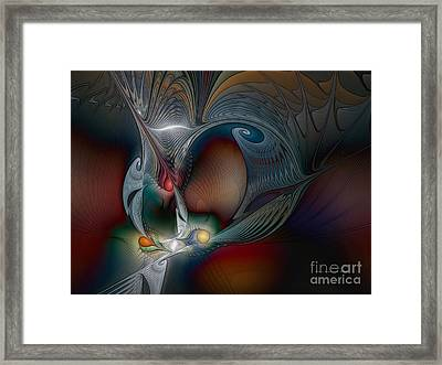 Framed Print featuring the digital art Trip Into Unknown by Karin Kuhlmann