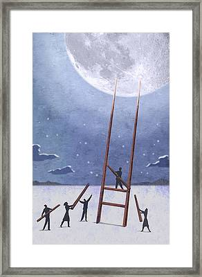 Trip To The Moon Framed Print