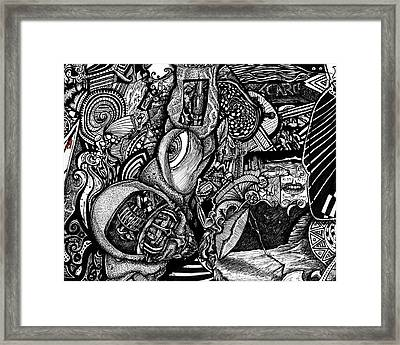 Tripal The Numbers Number 5 Framed Print