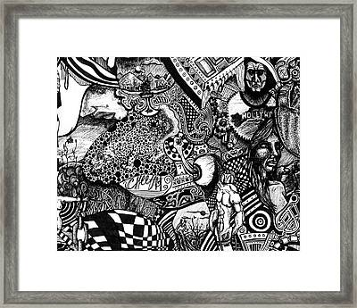 Tripal The Numbers Number 7 Framed Print