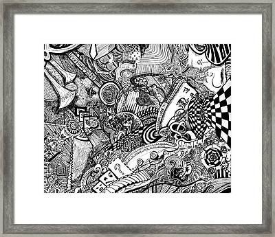 Tripal The Numbers Number 9 Framed Print