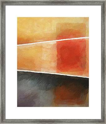 Triple Abstract Framed Print