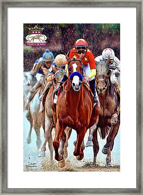 Triple Crown Winner Justify 2 Framed Print