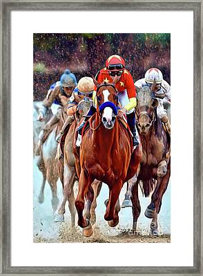 Triple Crown Winner Justify Framed Print