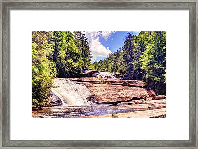 Triple Falls - Dupont Forest Framed Print by William Wetmore