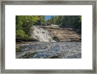 Framed Print featuring the photograph Triple Falls Second Tier by Steven Richardson