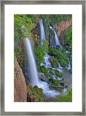 Triple Falls Vertical Framed Print