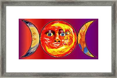 Triple Goddess Framed Print by Shelley Bain