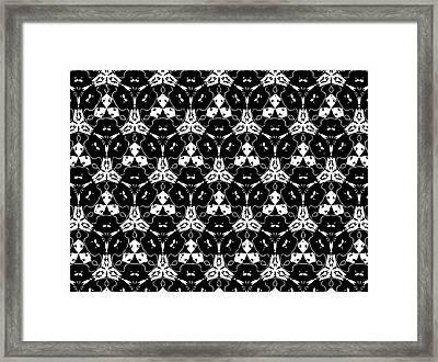 Triple Lace Framed Print