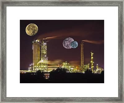 Triple Moon Framed Print by Michael Whitaker