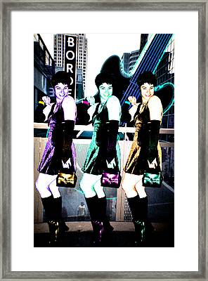 Framed Print featuring the photograph Triple Pixie by Lola Connelly