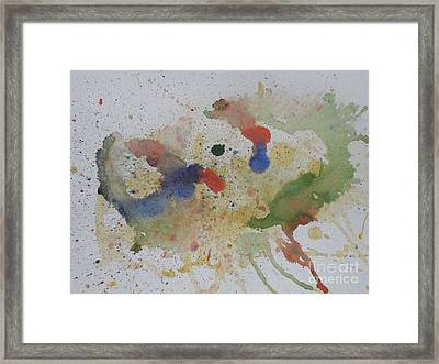 Framed Print featuring the painting Triple Rooster Race by Vicki  Housel