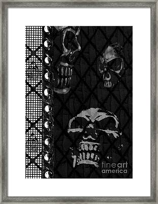 Triple Skulls Framed Print