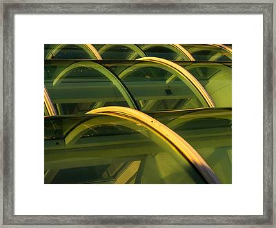 Triple Skylight Framed Print