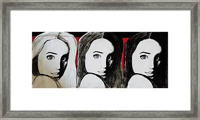 Triple The Trouble Framed Print by Melanie Cecconi