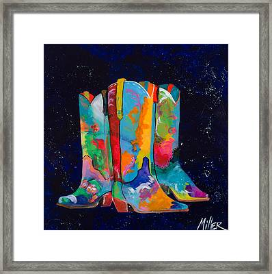 Triple Threat Framed Print by Tracy Miller