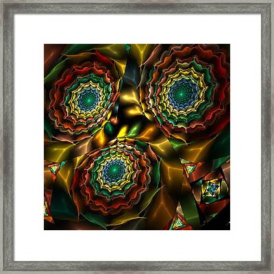 Triple Vortex Framed Print