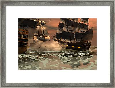 Tripoli Engagement Framed Print by Claude McCoy