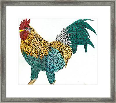 Tripping Cock Framed Print