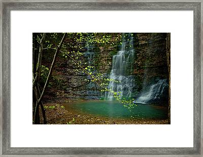 Tripple Falls Framed Print by Iris Greenwell