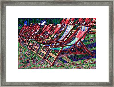 Trippy Beach Chairs Framed Print by Bill Cannon
