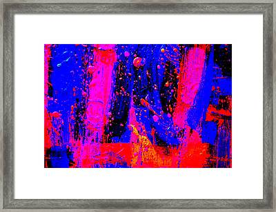 Triptych 2 Cropped Framed Print