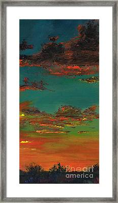 Triptych 3 Framed Print by Frances Marino
