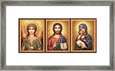 Triptych Icons Framed Print