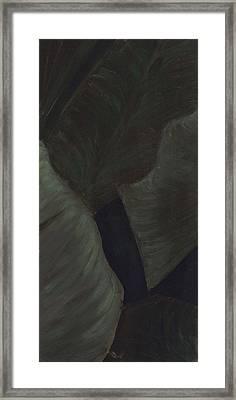 Triptych Two - Big Leaves Framed Print by Megan Thielman