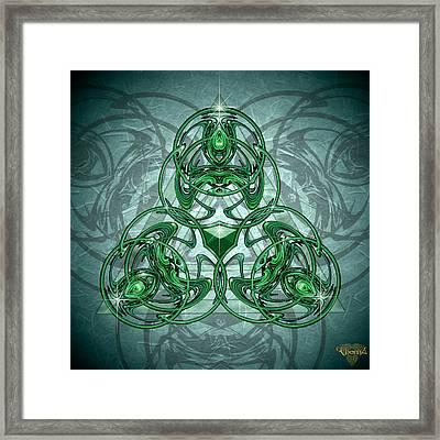 Triskellion Framed Print by Greg Piszko