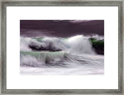 Tritan's Dance Framed Print by Donna Blackhall