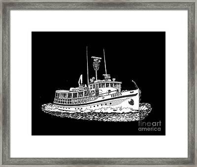 88 Foot Fantail Yacht Triton Framed Print by Jack Pumphrey