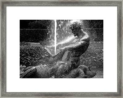 Triton Fountain Framed Print