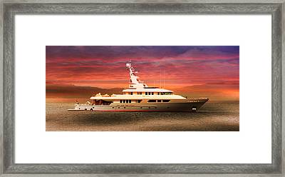 Framed Print featuring the photograph Triton Yacht by Aaron Berg