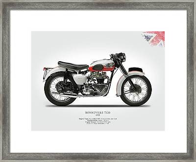 Triumph Bonneville 1959 Framed Print by Mark Rogan