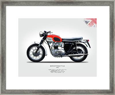 Triumph Bonneville 1966 Framed Print by Mark Rogan