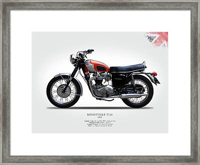 Triumph Bonneville 1969 Framed Print by Mark Rogan