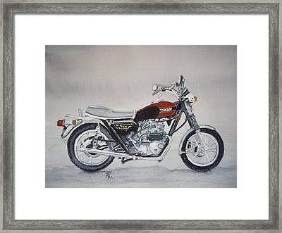 Triumph Bonneville Framed Print by Carole Robins