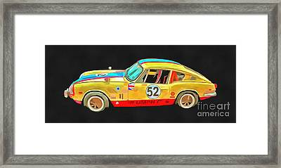 Triumph Gt6 Plus Pop Art Framed Print by Edward Fielding
