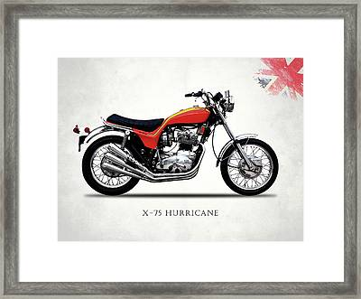Triumph Hurricane Framed Print by Mark Rogan