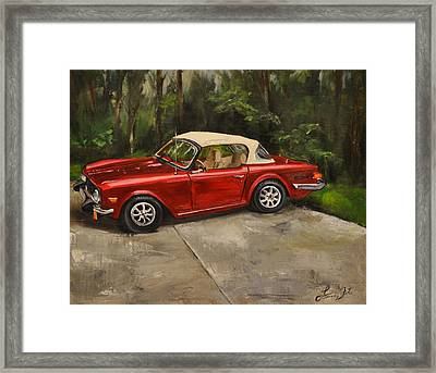 Framed Print featuring the painting Triumph by Lindsay Frost