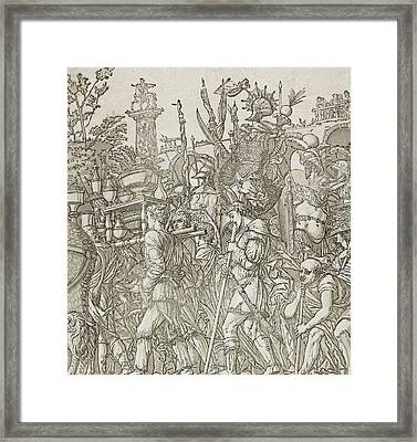 Triumph Of Caesar Framed Print by Andrea Andreani