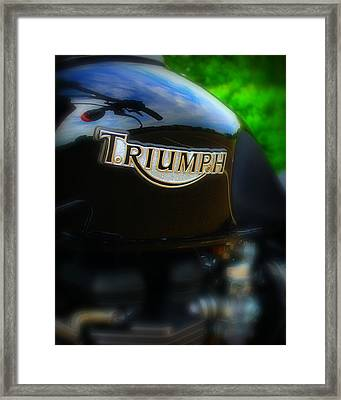 Triumph Framed Print by Perry Webster