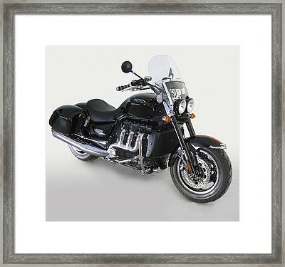 Framed Print featuring the photograph Triumph Rocket IIi by Richard Wiggins