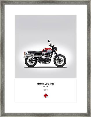 Triumph Scrambler 2015 Framed Print by Mark Rogan