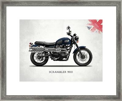 Triumph Scrambler 900 Framed Print by Mark Rogan