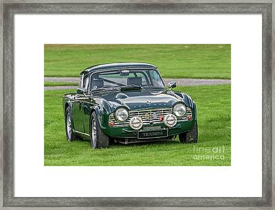 Triumph Sports Car Framed Print by Adrian Evans