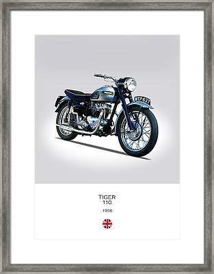 Triumph Tiger 110 1956 Framed Print