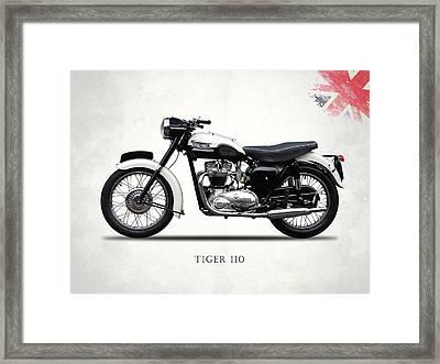 Triumph Tiger 110 1959 Framed Print