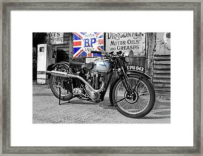 Triumph Tiger 80 Framed Print by Mark Rogan